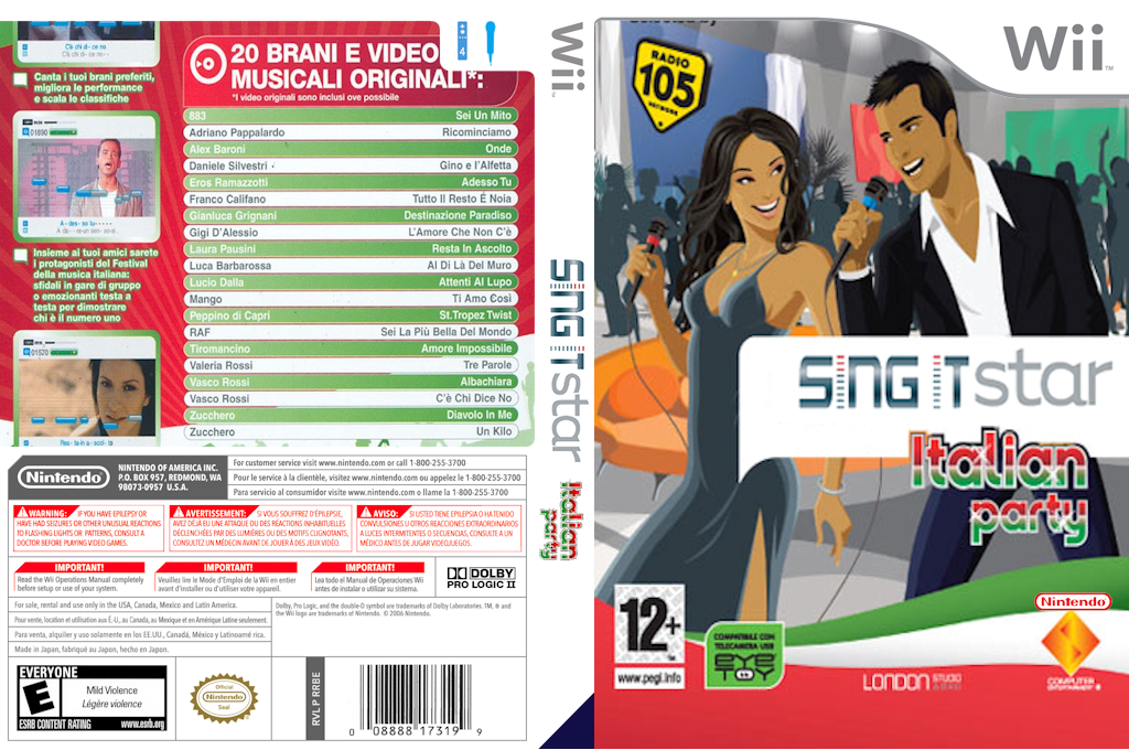 SingItStar Italian Party Wii coverfullHQ (RI1POH)