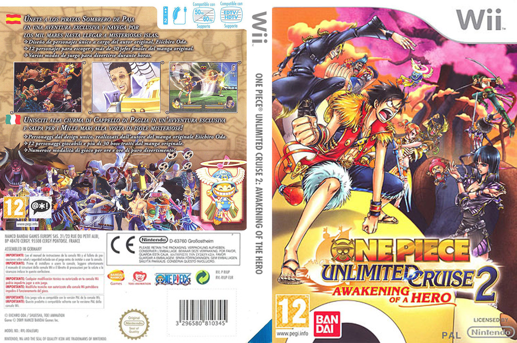 One Piece Unlimited Cruise 2: Il Risveglio di un Eroe Wii coverfullHQ (RIUPAF)