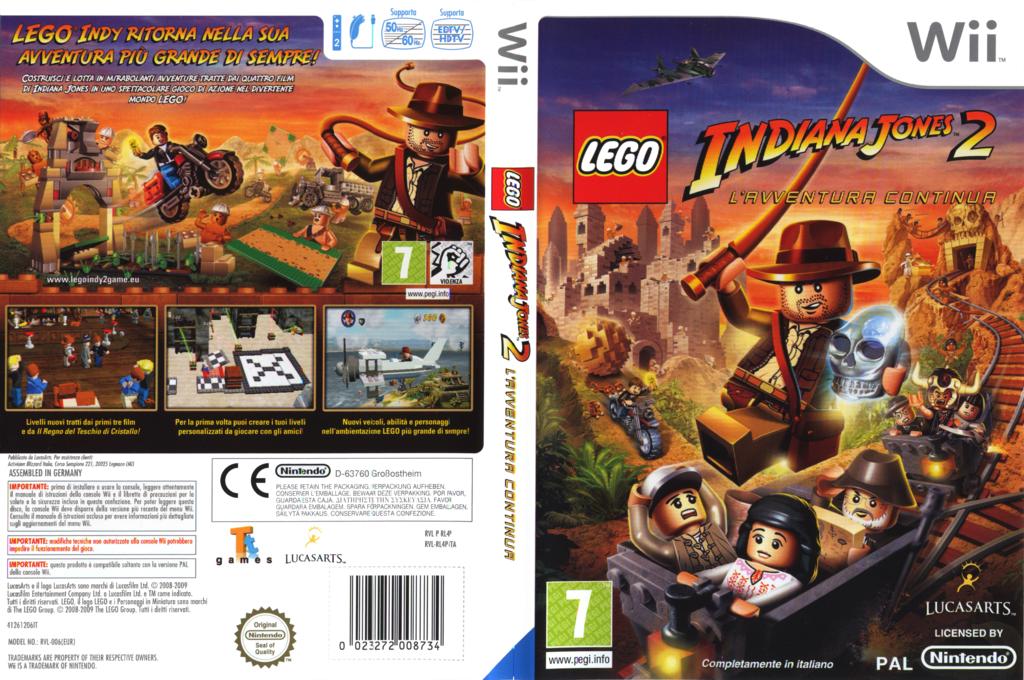LEGO Indiana Jones 2: L'Avventura Continua Wii coverfullHQ (RL4P64)