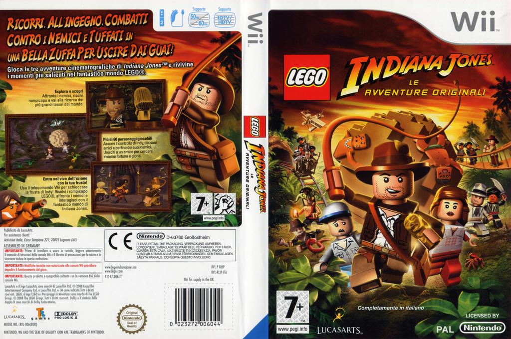 LEGO Indiana Jones: Le Avventure Originali Wii coverfullHQ (RLIP64)