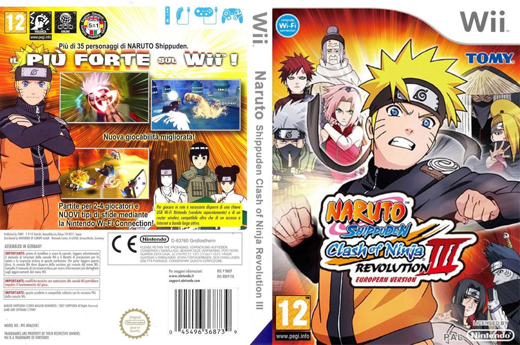Naruto Shippuden: Clash of Ninja Revolution 3 Array coverfullHQ (RNEPDA)