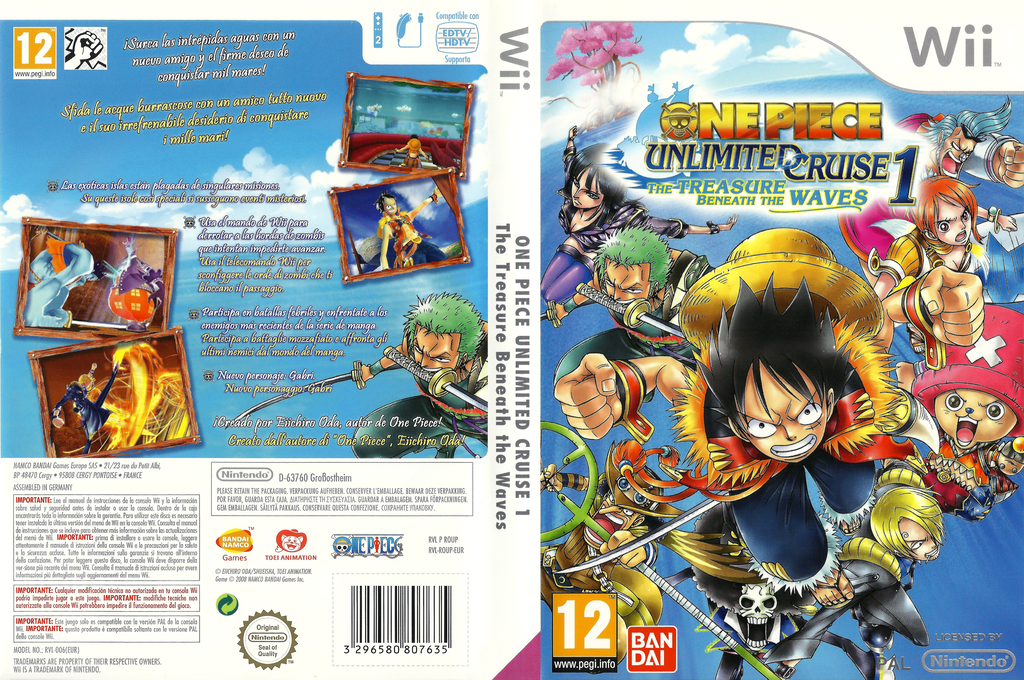 One Piece Unlimited Cruise 1: Il Tesoro Sommerso Wii coverfullHQ (ROUPAF)