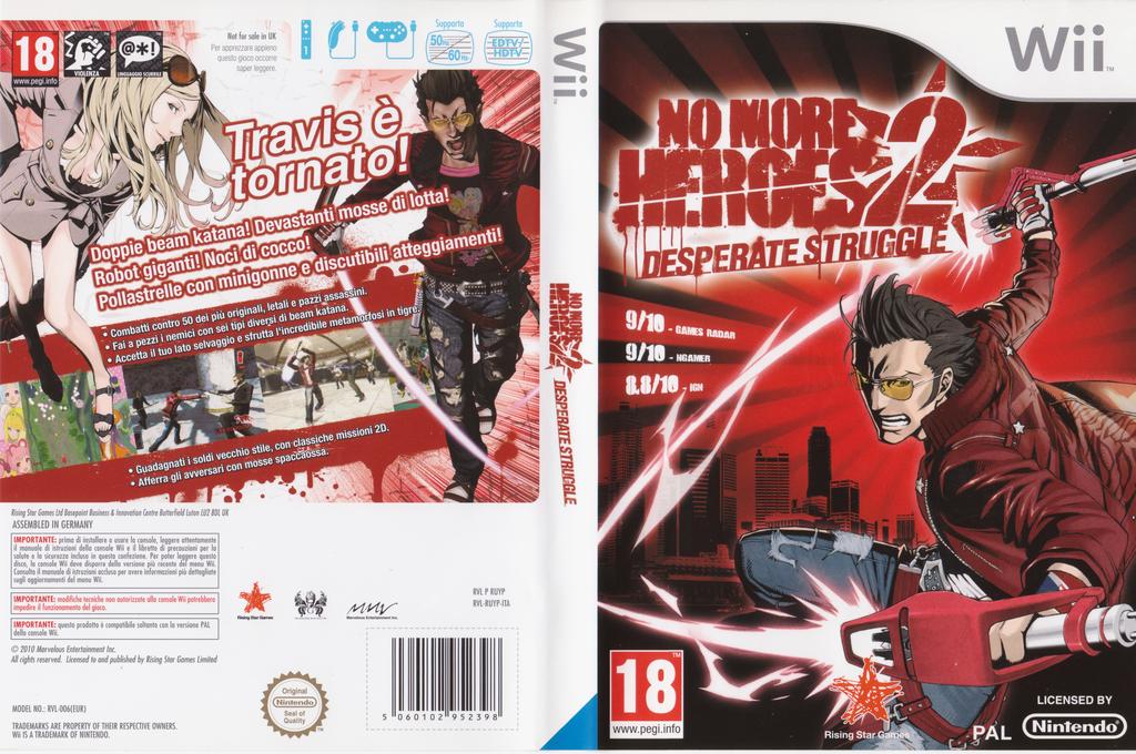 No More Heroes 2: Desperate Struggle Wii coverfullHQ (RUYP99)