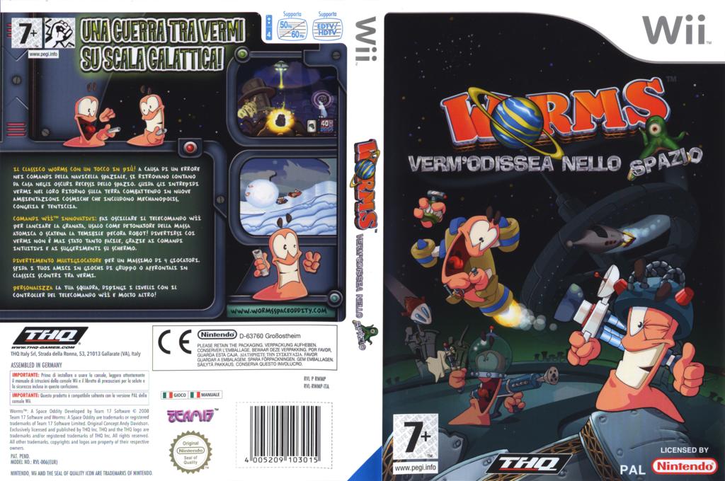 Worms: Verm'Odissea nello Spazio Wii coverfullHQ (RWMP78)