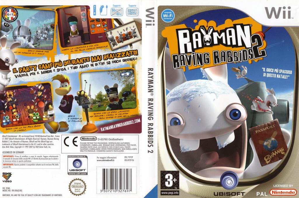 Rayman Raving Rabbids 2 Wii coverfullHQ (RY2P41)