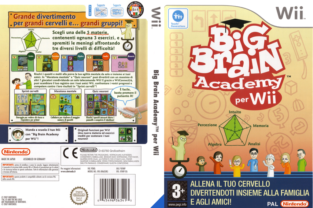 Big Brain Academy per Wii Array coverfullHQ (RYWP01)