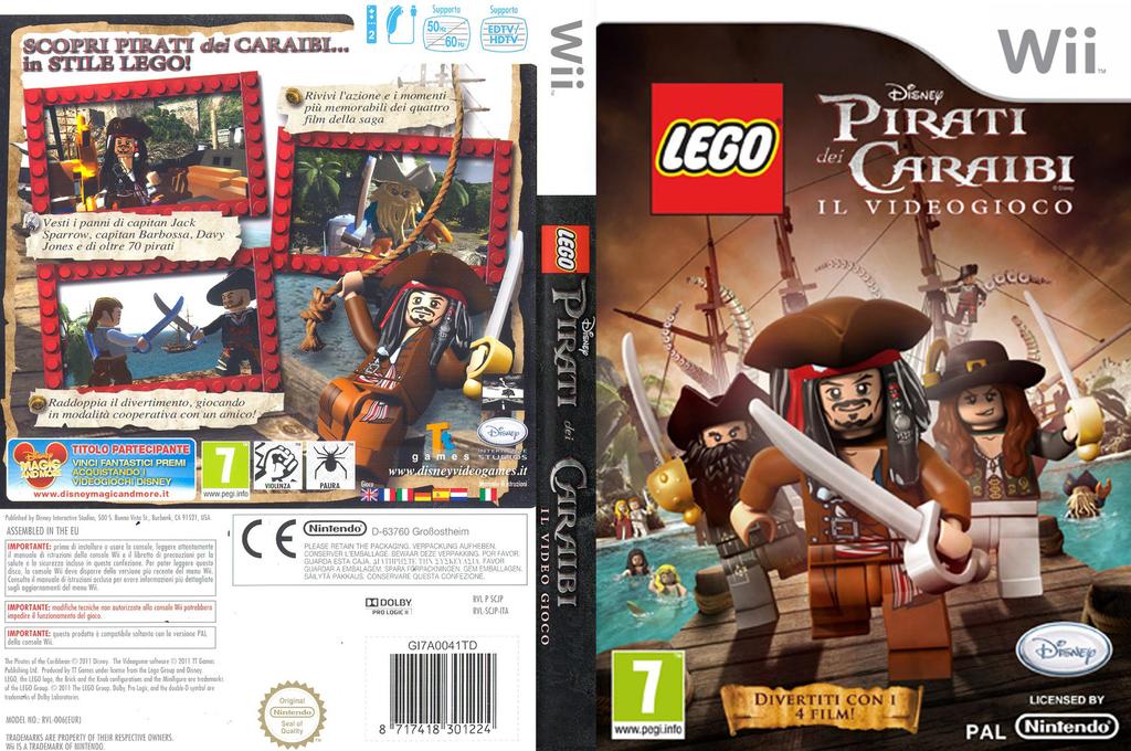 LEGO Pirati dei Caraibi:Il Videogioco Wii coverfullHQ (SCJP4Q)