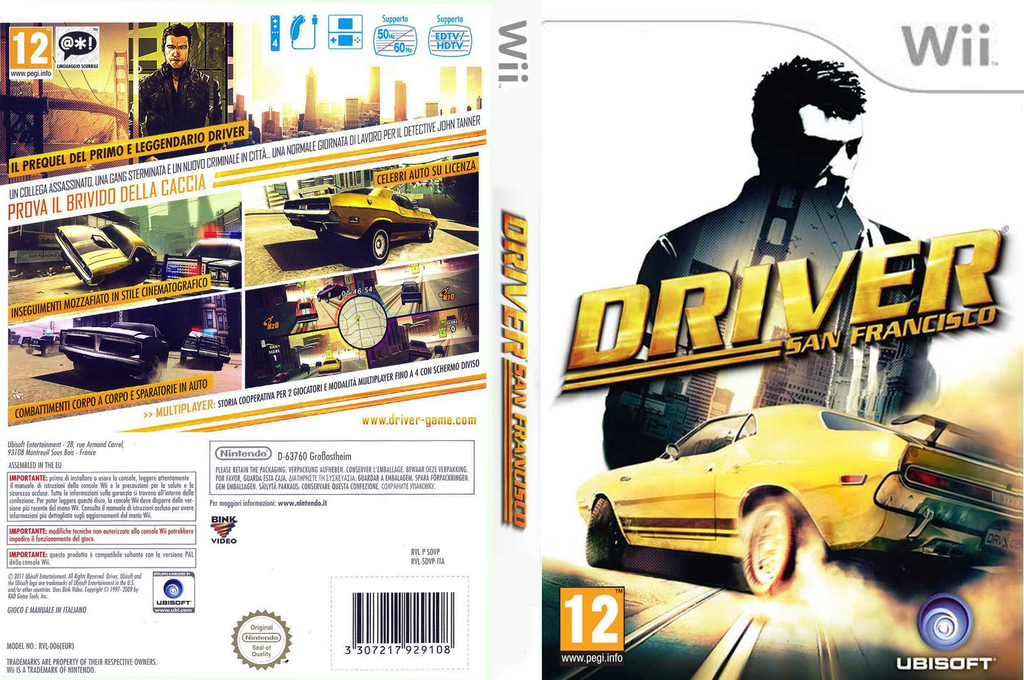 Driver: San Francisco Wii coverfullHQ (SDVP41)
