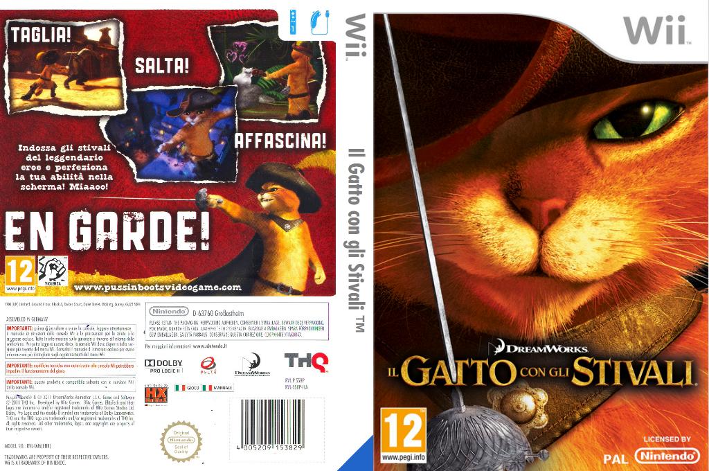 Il Gatto con gli Stivali Wii coverfullHQ (SSBP78)
