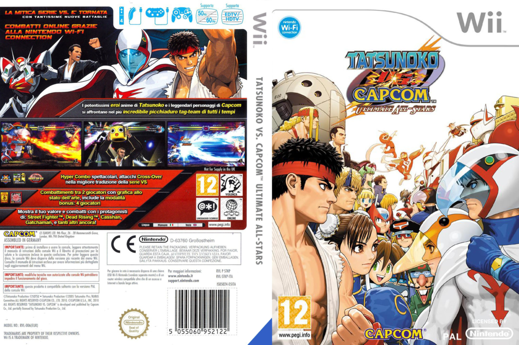 Tatsunoko vs. Capcom: Ultimate All Stars Wii coverfullHQ (STKP08)