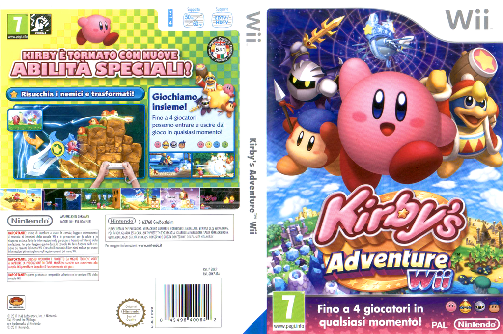Kirby's Adventure Wii Wii coverfullHQ (SUKP01)