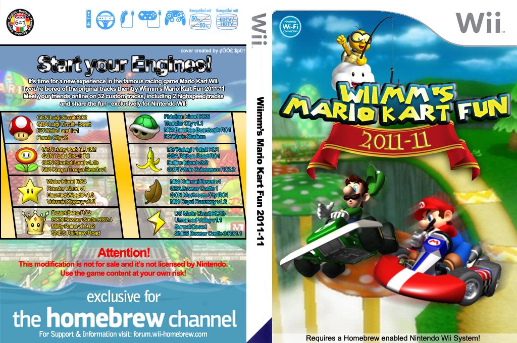 マリオカートWii カスタム(2011-11 Wiimm) Wii coverfullHQ (RMCJ12)