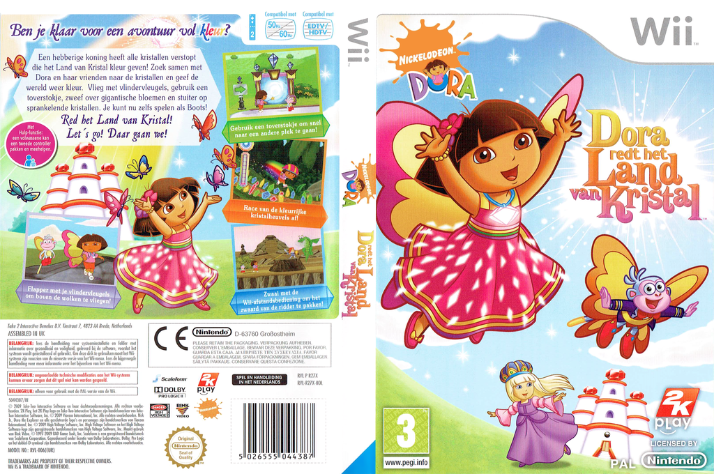 Dora redt het Land van Kristal Wii coverfullHQ (R27X54)