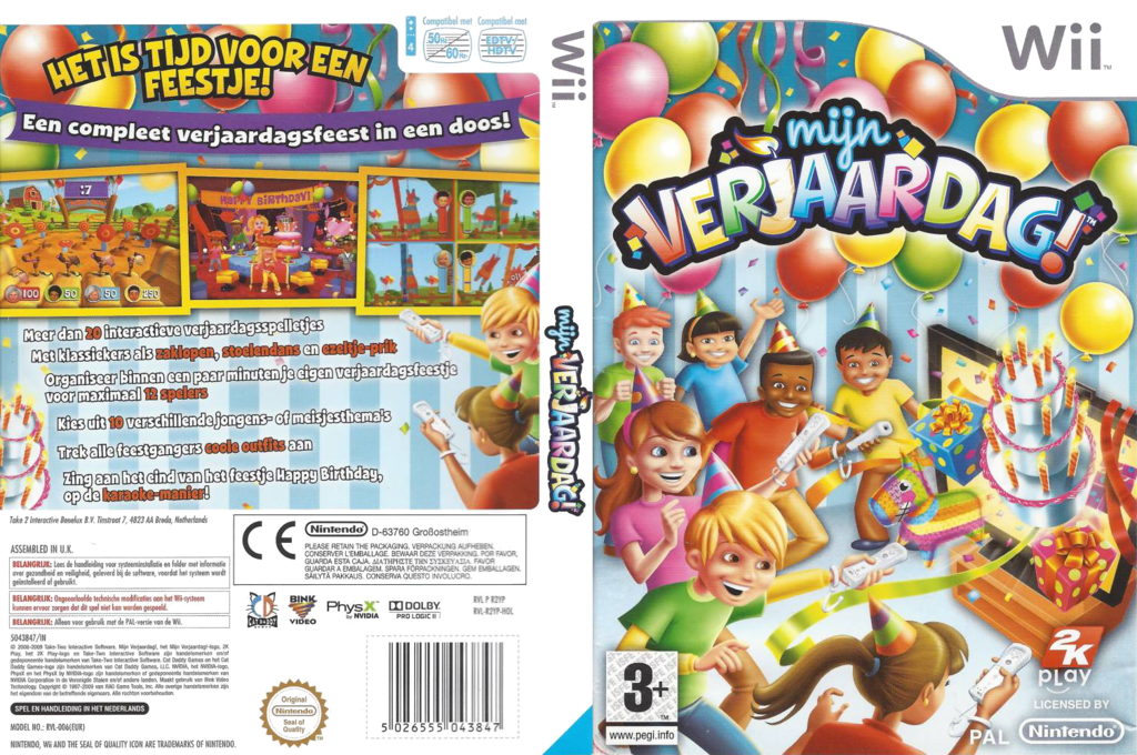 Mijn Verjaardag! Wii coverfullHQ (R2YP54)