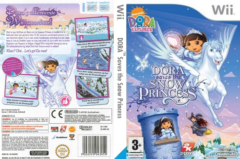 Dora Redt de Sneeuwprinses Wii coverfullHQ (RDPP54)