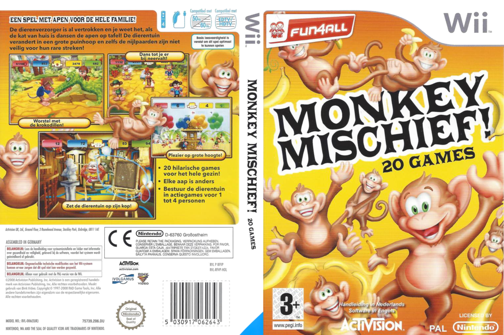 Monkey Mischief! 20 Games Wii coverfullHQ (RFVP52)