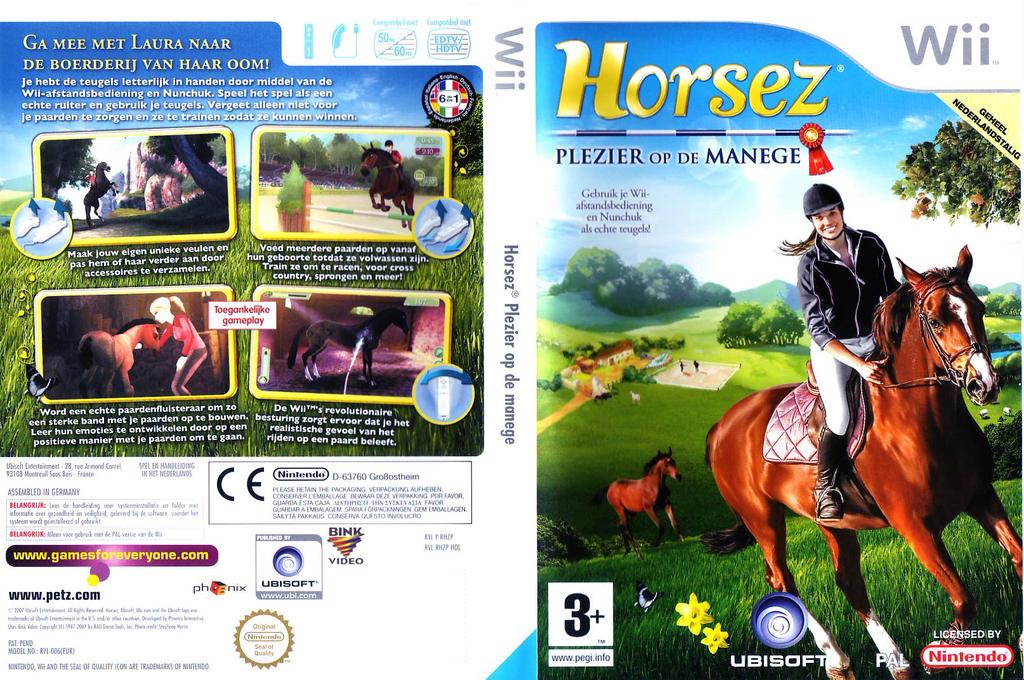 Horsez: Plezier op de manege Wii coverfullHQ (RHZP41)