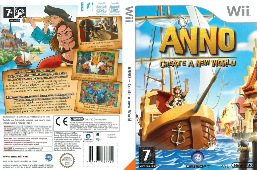 ANNO: Creëer een Nieuwe Wereld Wii coverfullHQ (RN4P41)