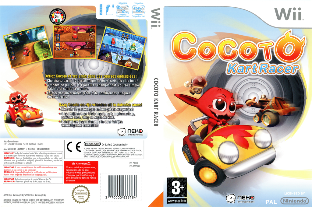 Cocoto Kart Racer Wii coverfullHQ (ROCPNK)