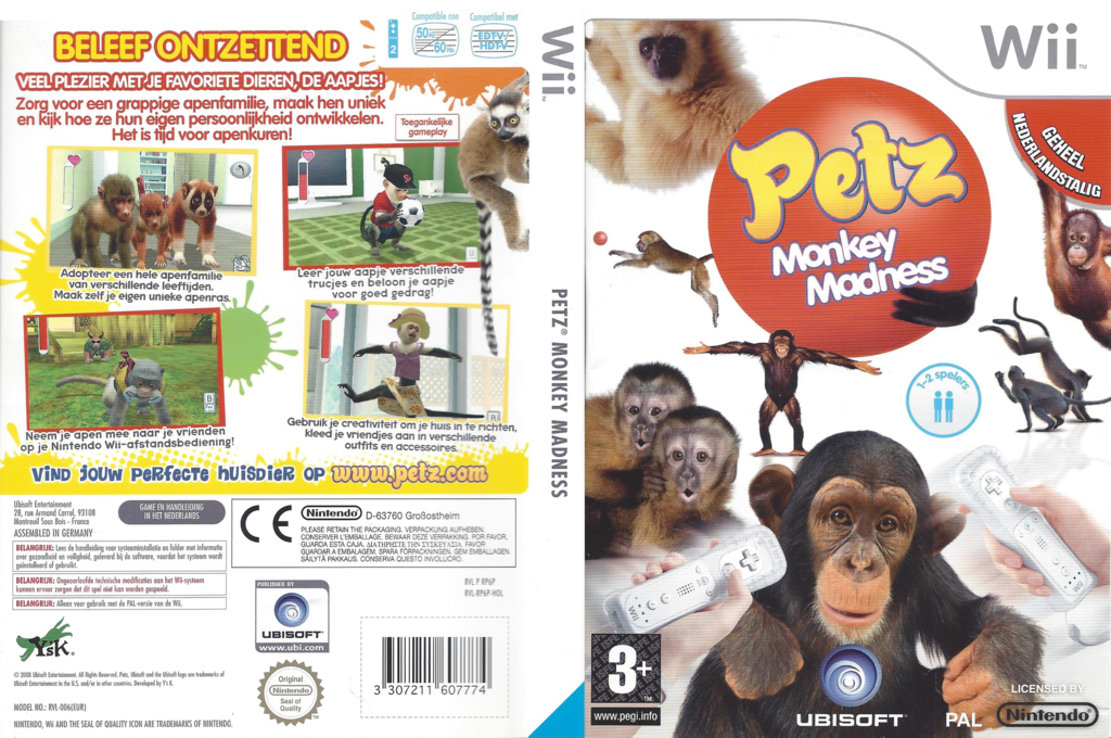 Petz Monkey Madness Wii coverfullHQ (RP6P41)