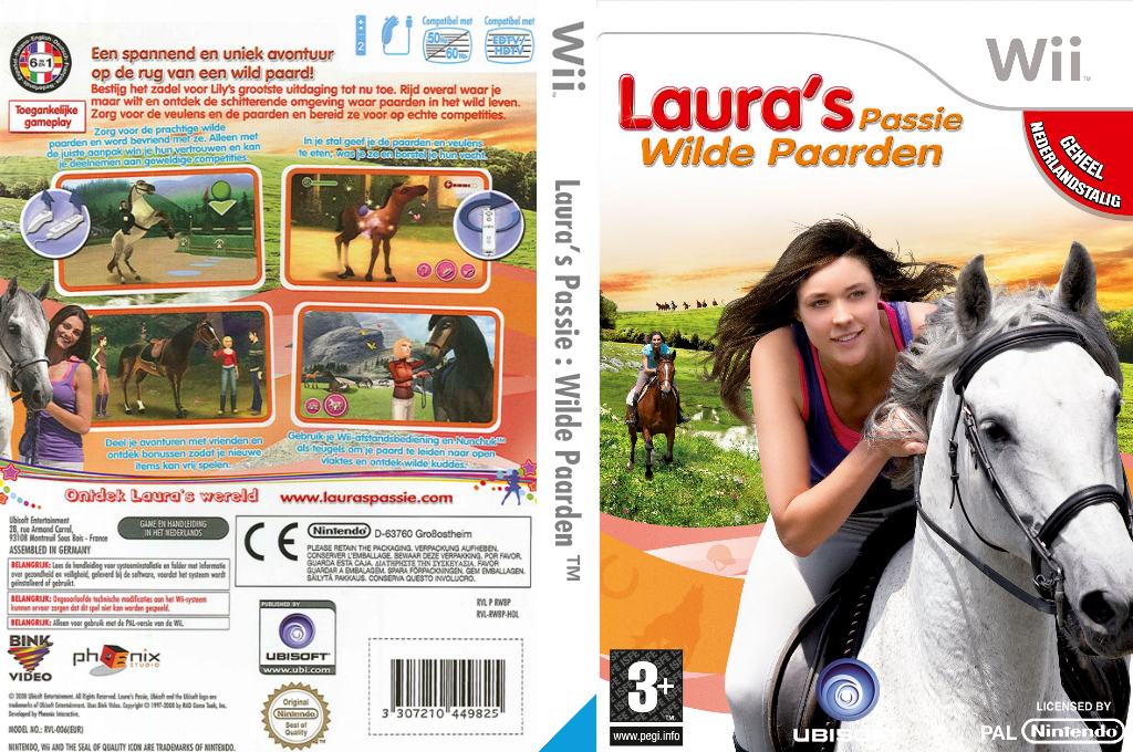 Laura's Passie : Wilde Paarden Wii coverfullHQ (RW8P41)
