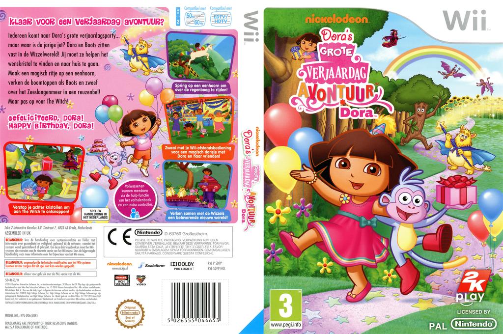 Dora's Grote Verjaardag Avontuur Wii coverfullHQ (SDPP54)