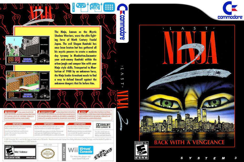 Last Ninja 2 Wii coverfullHQ (C93E)