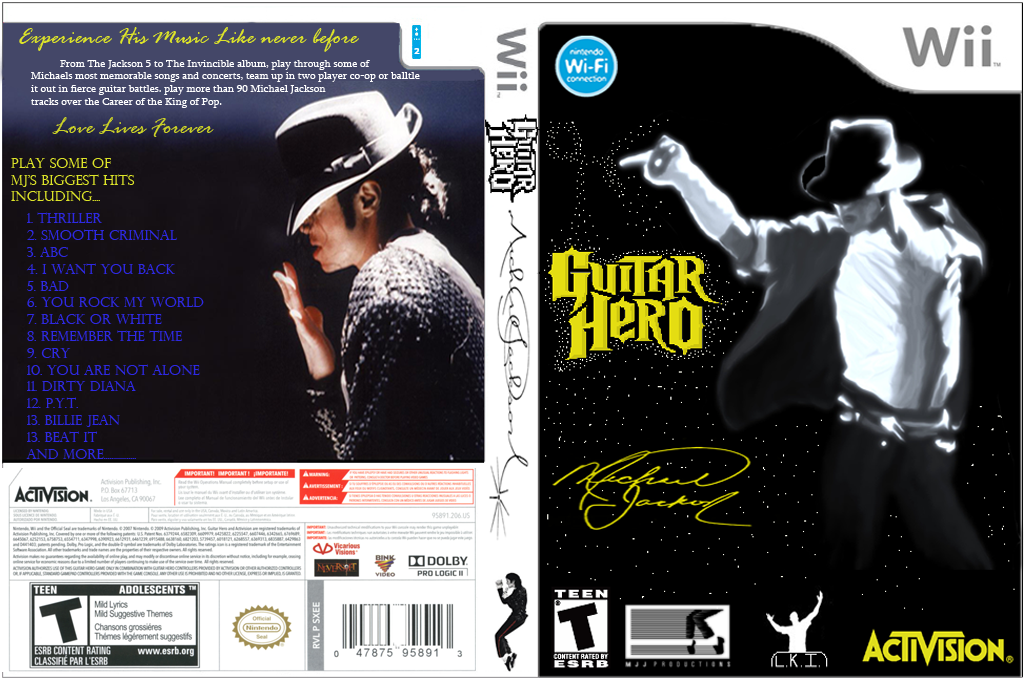 Guitar Hero III Custom : Michael Jackson Wii coverfullHQ (CFEE52)