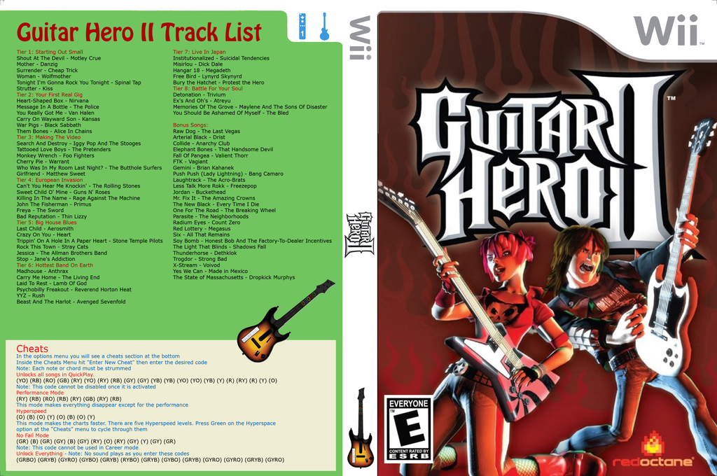 Guitar Hero III Custom : Guitar Hero II Wii coverfullHQ (CGHE88)