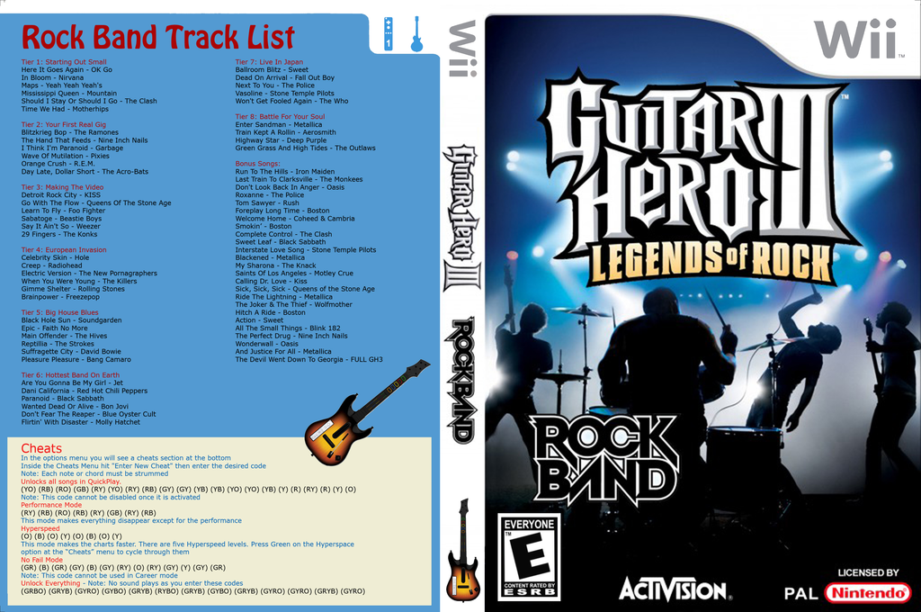 Guitar Hero III Custom : Rock Band Wii coverfullHQ (CGHE95)