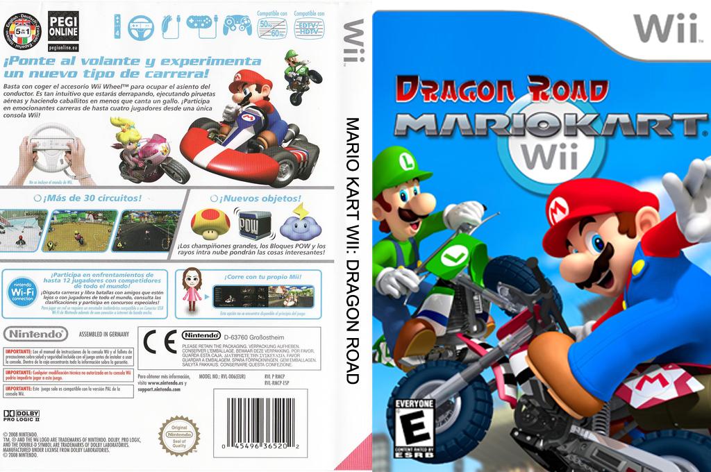 Mario Kart Wii Dragon Road Wii coverfullHQ (CMKE01)