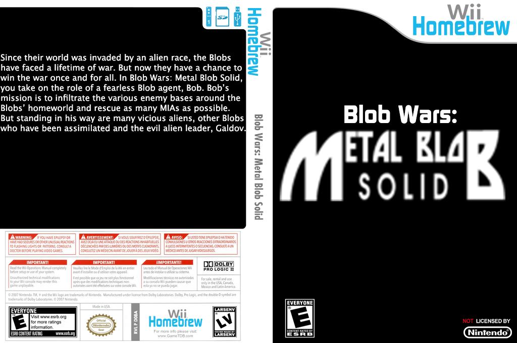 Blob Wars: Metal Blob Solid Wii coverfullHQ (D08A)
