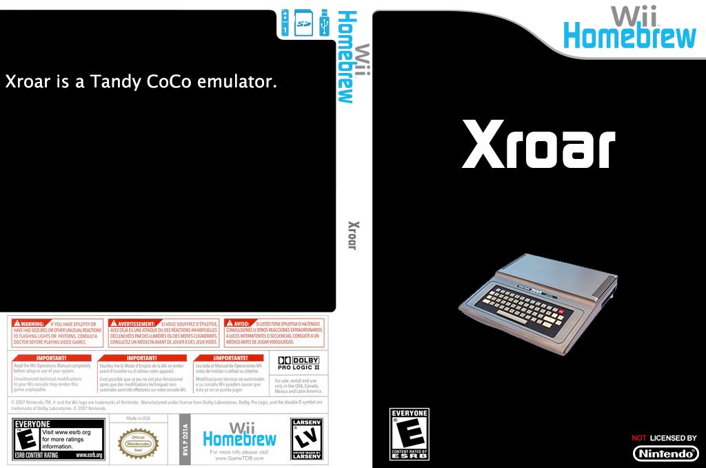Xroar Wii coverfullHQ (D21A)