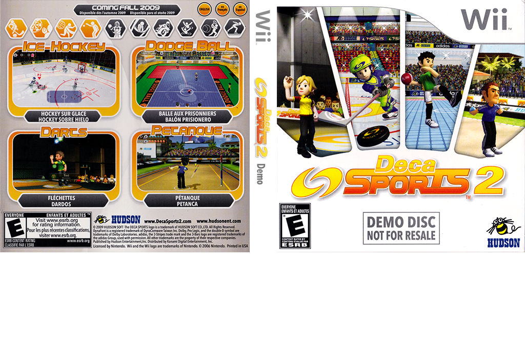 Deca Sports 2 (Demo) Wii coverfullHQ (D2SE18)