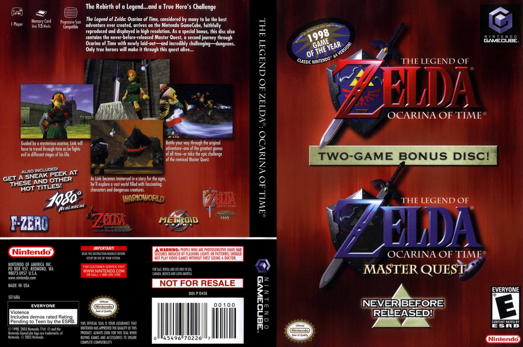 The Legend of Zelda: Ocarina of Time / Master Quest Wii coverfullHQ (D43E01)