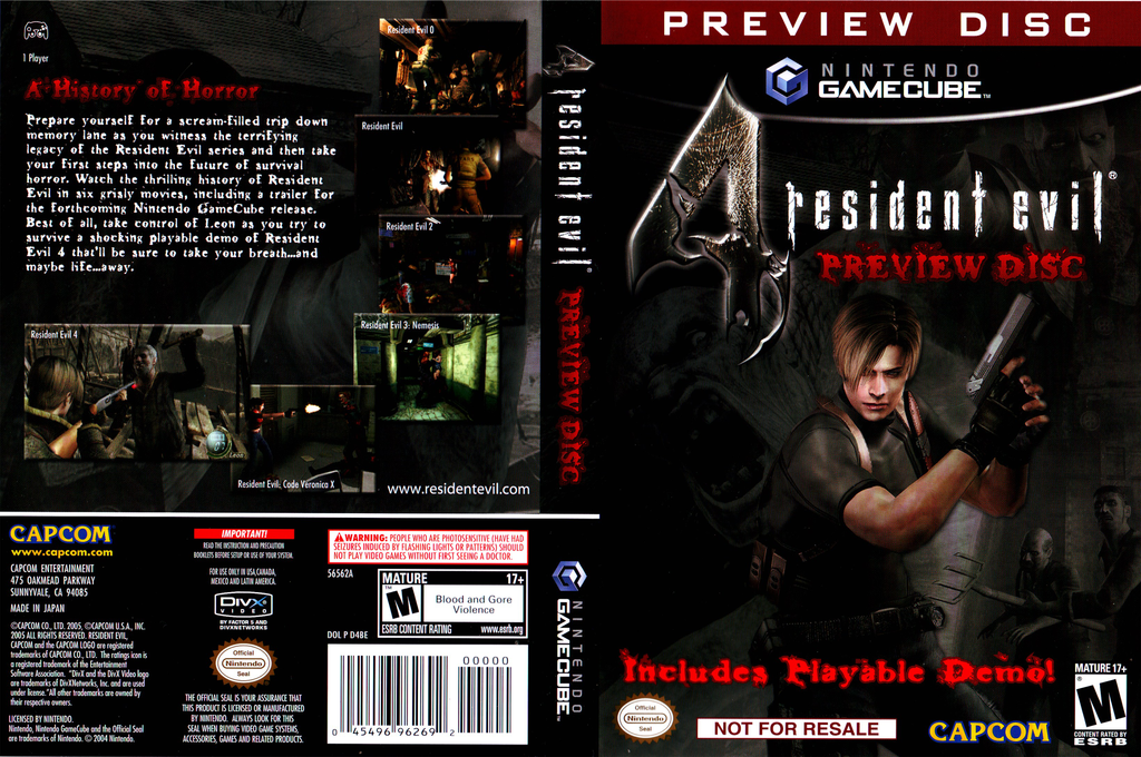 Resident Evil 4: Preview Disc Wii coverfullHQ (D4BE08)