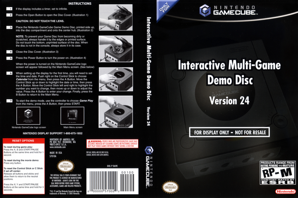 Interactive Multi-Game Demo Disc - Version 24 Wii coverfullHQ (D69E01)