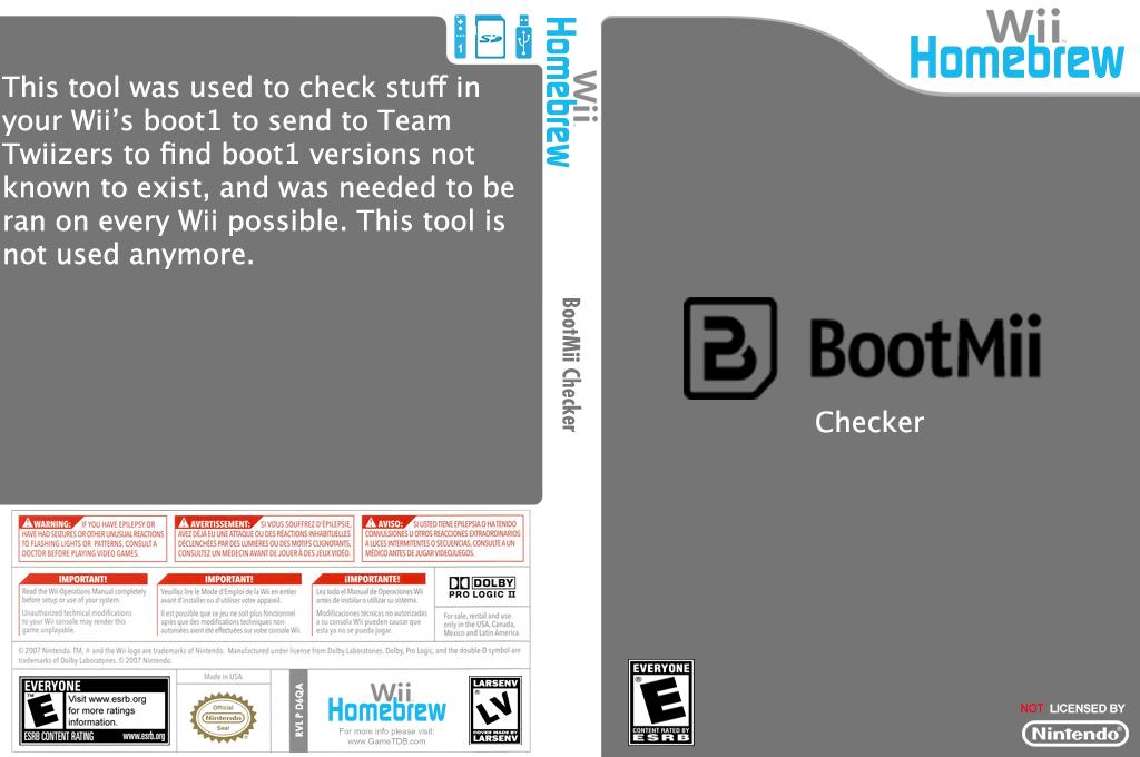 BootMii Checker Wii coverfullHQ (D6QA)