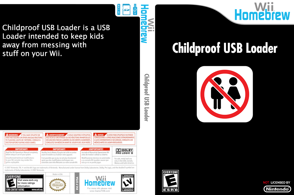 Childproof USB Loader Wii coverfullHQ (D7SA)