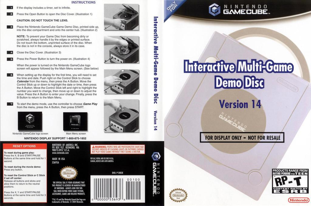 Interactive Multi-Game Demo Disc - Version 14 Wii coverfullHQ (D83E01)