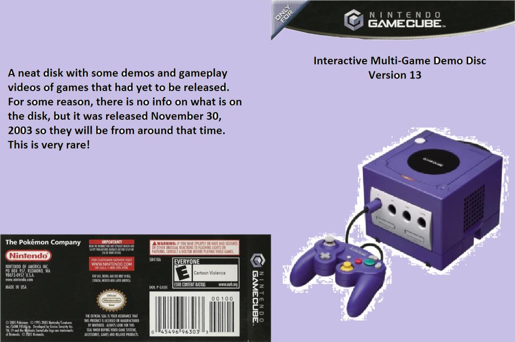 Interactive Multi-Game Demo Disc - Version 13 Wii coverfullHQ (D84E01)