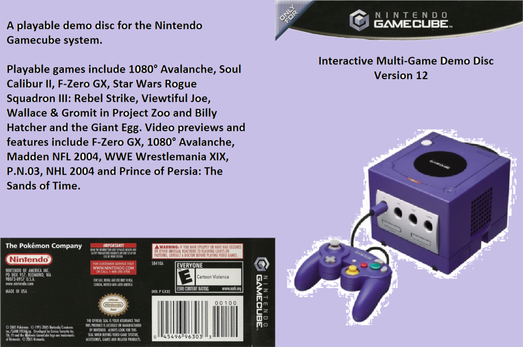 Interactive Multi-Game Demo Disc - Version 12 Array coverfullHQ (D85E01)