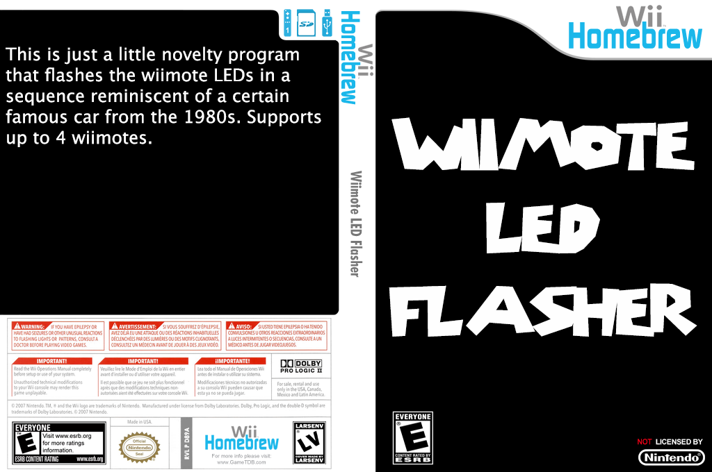 Wiimote Led Flasher Wii coverfullHQ (D89A)