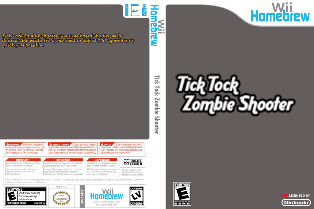 Tick Tock Zombie Shooter Wii coverfullHQ (D8ZA)