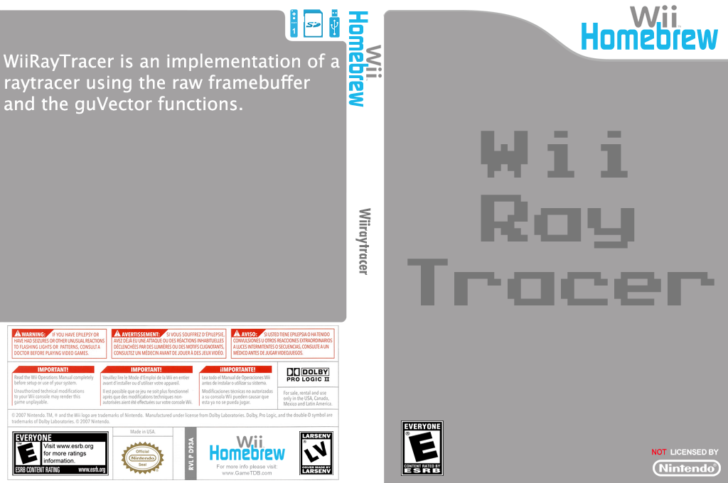 Wiiraytracer Wii coverfullHQ (D93A)