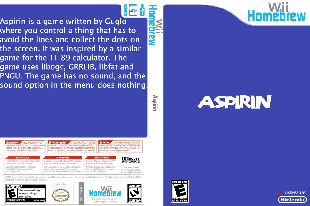Aspirin Wii coverfullHQ (DASA)