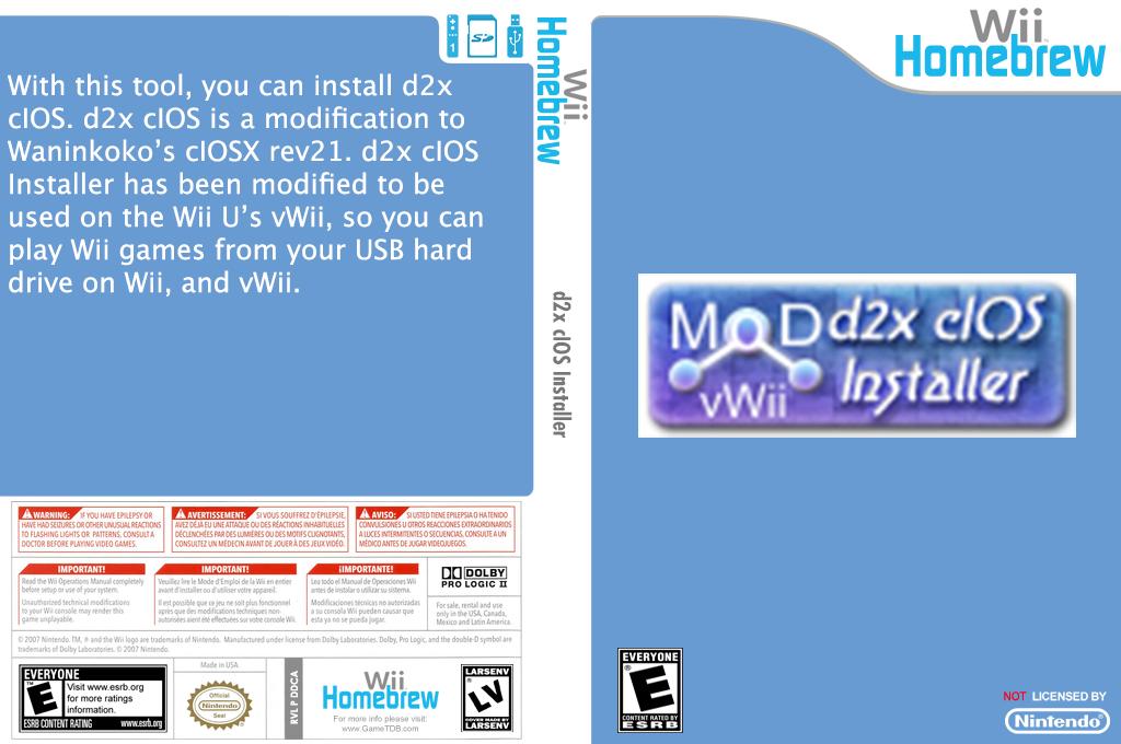 d2x cIOS Installer Wii coverfullHQ (DDCA)