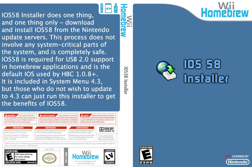 Ios58 Installer Wii coverfullHQ (DI8A)