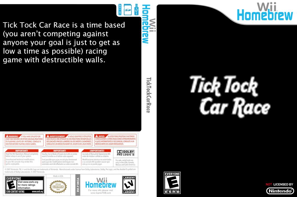 Tick Tock Car Race Wii coverfullHQ (DKCA)