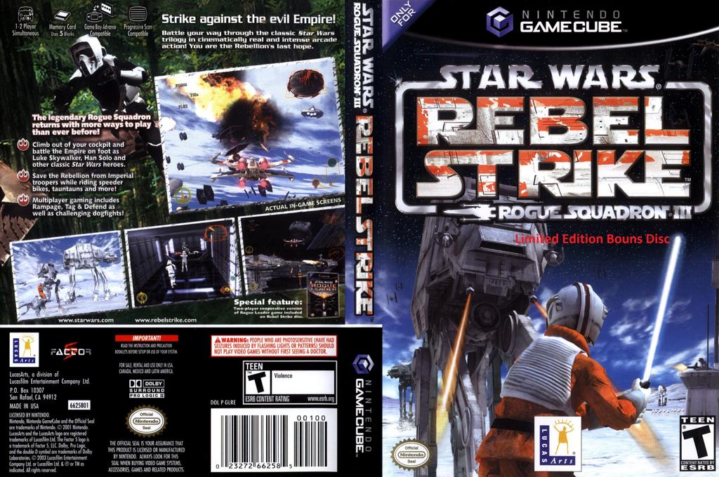 Star Wars: Rogue Squadron III: Rebel Strike: Limited Edition Bonus Disc (Demo) Wii coverfullHQ (DLSE64)